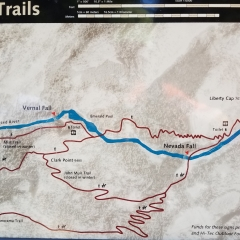 Vernal & Nevada Falls Map