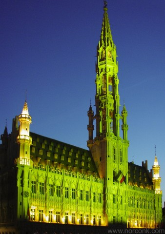 Brussels Town Hall Light Show