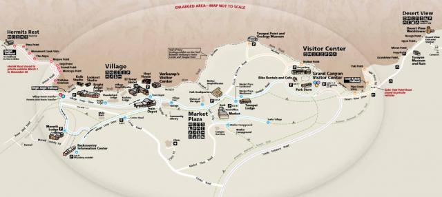 South Rim Map