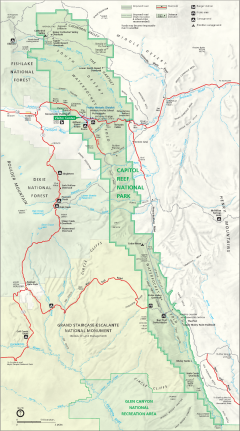 Capitol Reef Map