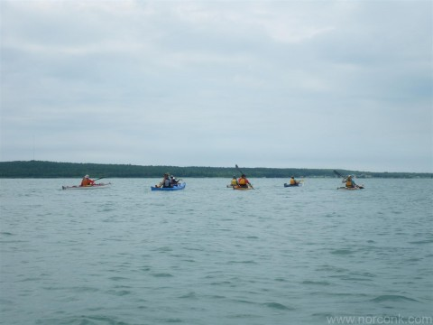 Kayak group crossing