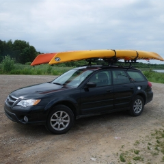 Subaru with kayaks