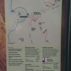 Observation Point Trail Map
