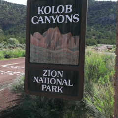 Kolob Canyons Sign