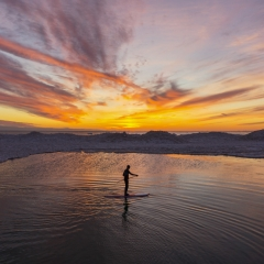 Sunset Paddleboarder