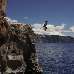 Jumping in Crater Lake