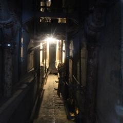 Alcatraz escape utility corridor.