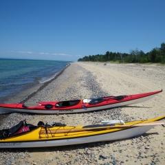 Kayaks on the Beach