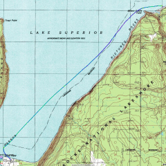 Sand Point to Miners Beach GPS Track