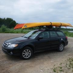 Subaru with kayaks