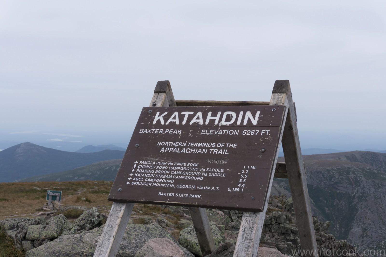 Katahdin The Norconk - Mt katahdin trail map