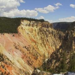 View down Yellowstone Canyon